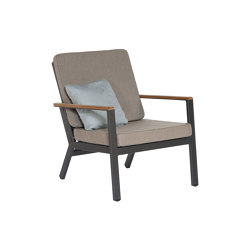 Aura Lounge Chair DS (Graphite Frame - Charcoal Sling) | Armchairs | Barlow Tyrie