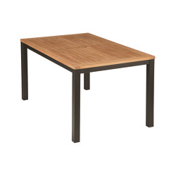Aura Table 150 (Teak Top and Graphite Frame) | Dining tables | Barlow Tyrie