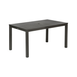 Aura Aluminium Table 150 Rectangular (Graphite Top and Frame) | Dining tables | Barlow Tyrie