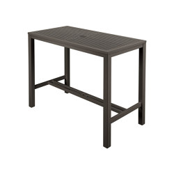Aura High Dining Aluminium Table 140 Rectangular (Graphite Top and Frame) | Tavoli alti | Barlow Tyrie