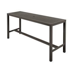 Aura High Dining Aluminium Table 200 Rectangular (Graphite Top and Frame) | Tavoli alti | Barlow Tyrie