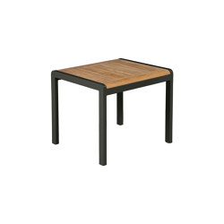 Aura Low Table 50 (Teak Top and Graphite Frame) | Coffee tables | Barlow Tyrie