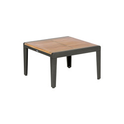Aura Low Table 60 Square (Teak Top and Graphite Frame) | Coffee tables | Barlow Tyrie