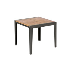 Aura Side Table 60 Square (Teak Top and Graphite Frame) | Side tables | Barlow Tyrie