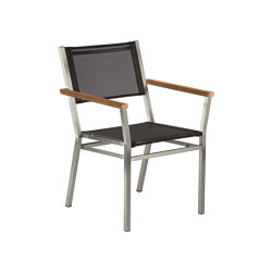 Equinox Carver (Teak Arm Detail - Charcoal Sling) | Chairs | Barlow Tyrie