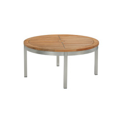 Equinox Conversation Table 100 Ø Circular with Teak top   Tables de repas   Barlow Tyrie