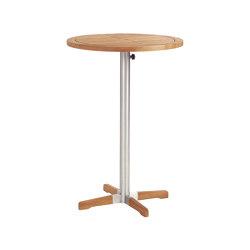 Equinox High Dining Bistro Table 70 Ø Circular with Teak top | Mesas altas | Barlow Tyrie