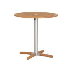 Equinox High Dining Bistro Table 100 Ø Circular with Teak top | Mesas altas | Barlow Tyrie