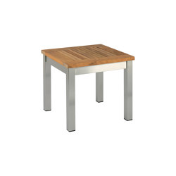 Equinox Low Table 44 Square with Teak top | Coffee tables | Barlow Tyrie