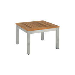 Equinox Low Table 60 Square with Teak top | Coffee tables | Barlow Tyrie