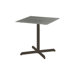 Equinox Pedestal Table 70 Square (powder coated) (Graphite Frame - Dusk Ceramic) | Bistro tables | Barlow Tyrie