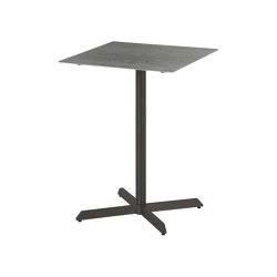 Equinox High Dining Pedestal Table 70 Square (powder coated) (Graphite Frame - Dusk Ceramic) | Tavoli alti | Barlow Tyrie