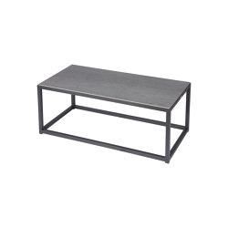 Equinox Low Table 100 Retangular (powder coated) (Graphite Frame - Dusk Ceramic) | Coffee tables | Barlow Tyrie