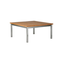 Equinox Low Table 100 Square with Teak top | Coffee tables | Barlow Tyrie