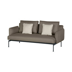 Layout Double Seat - Double seat and back with Low Arms (Forge Grey Frame) | Canapés | Barlow Tyrie