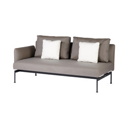 Layout Double Seat - One Arm Layout Double Seat - One Arm (Forge Grey Frame) | Canapés | Barlow Tyrie