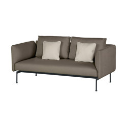 Layout Double Seat - High Arms - Double seat and back with High Arms (Forge Grey Frame) | Canapés | Barlow Tyrie