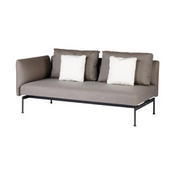 Layout Double Seat - One High Arm Layout Double Seat - One High Arm (Forge Grey Frame) | Canapés | Barlow Tyrie