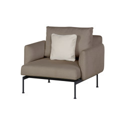 Layout Single Seat - Single seat and back with Low Arms (Forge Grey Frame) | Armchairs | Barlow Tyrie