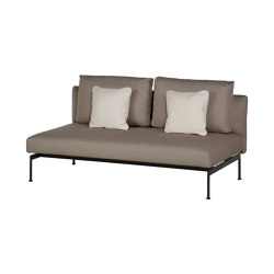 Layout Double Bench - Double seat with back (Forge Grey Frame) | Sofas | Barlow Tyrie