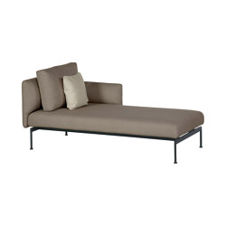 Layout Single Chaise - Double seat and single back + single low arm (Forge Grey Frame) | Recamieres | Barlow Tyrie