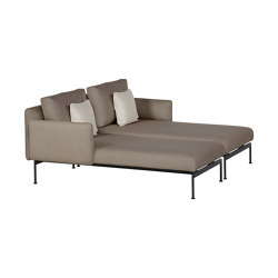 Layout Double Chaise - Double seats and single backs + single low arms (Forge Grey Frame) | Recamieres | Barlow Tyrie