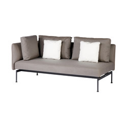 Layout Double Corner Seat (Forge Grey Frame) | Canapés | Barlow Tyrie