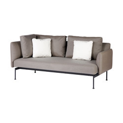 Layout Double Corner Seat + Low Arm (Forge Grey Frame) | Sofas | Barlow Tyrie