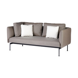 Layout Double Corner Seat + High Arm (Forge Grey Frame) | Canapés | Barlow Tyrie