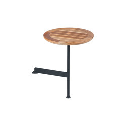 Layout Side Table 40 Ø Circular with Teak top (powder coated) (Forge Grey Frame)   Table accessories   Barlow Tyrie