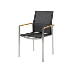 Mercury Stuhl Teak Arm/Charcoal Sling   Stühle   Barlow Tyrie