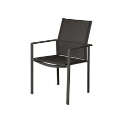 Mercury Stuhl Gestell Graphite/Carbon Sunbrella® Sling   Stühle   Barlow Tyrie