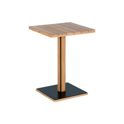 Titan HD Table 75 Square (Black Frame) | Bistro tables | Barlow Tyrie
