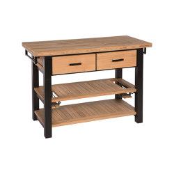 Titan Serving Table 136 Rectangular (Black Frame) | Modular outdoor kitchens | Barlow Tyrie
