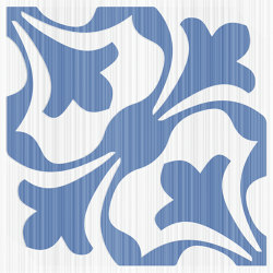 Riflessi Blu Fiore Lucido | Carrelage céramique | Refin