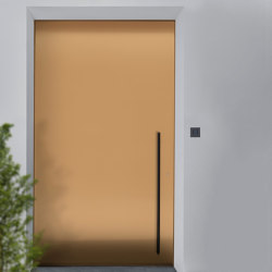 Modern front doors pivot doors CIRCUM | Entrance doors | ComTür