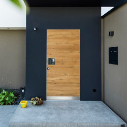 Modern front doors frameless doors NATURA | Entrance doors | ComTür