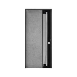Modern front doors frameless doors CERA | Entrance doors | ComTür