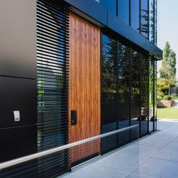 Modern front doors flush fitting doors NATURA | Entrance doors | ComTür
