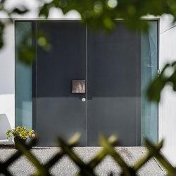 Modern front doors flush fitting doors COLOR | Entrance doors | ComTür