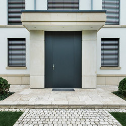 Modern front doors floor to ceiling doors COLOR | Entrance doors | ComTür