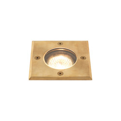 Gramos Square | Coastal Natural Brass | Outdoor recessed floor lights | Astro Lighting