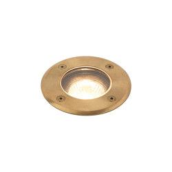Gramos Round | Coastal Natural Brass | Outdoor recessed floor lights | Astro Lighting