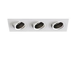 Pinhole Square Triple Adjustable | Matt White | Recessed ceiling lights | Astro Lighting