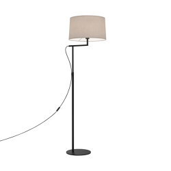 Telegraph Floor | Matt Black | Free-standing lights | Astro Lighting