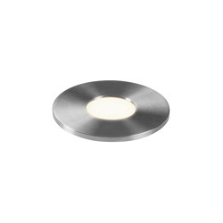 Terra Round 28 LED | Brushed Stainless Steel | Lampade outdoor incasso pavimento | Astro Lighting