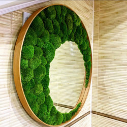 Mirror With Ball Moss | Mirrors | Ekomoss