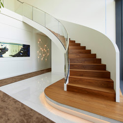 Exclusive spiral staircase in a private residence in Lampertheim | Staircase systems | MetallArt Treppen