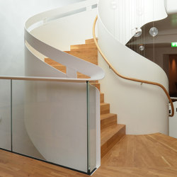 Modern folded stairs in the Lamaison hotel in Saarlouis | Staircase systems | MetallArt Treppen