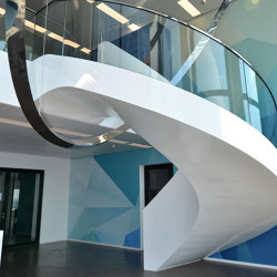 Extraordinary sculptural stairs in a Frankfurt office Tower | Staircase systems | MetallArt Treppen